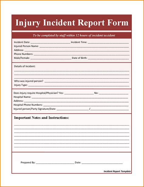 incident report template word word report templates free sle letter of for