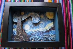 Illusion Glass Starry Night By Vincent Van Gogh 3d Shadow Box By