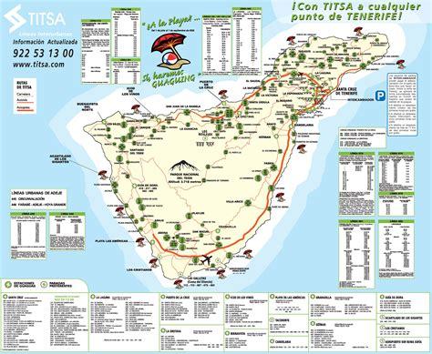 printable map tenerife tenerife map