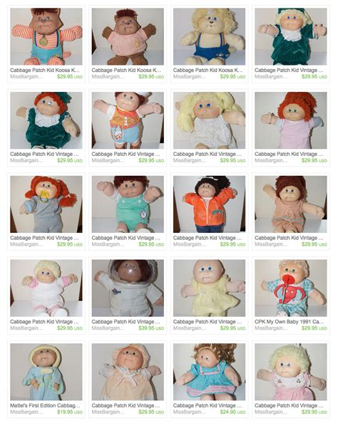 cabbage patch dolls names cabbage patch kids reevaluated missbargainhuntress