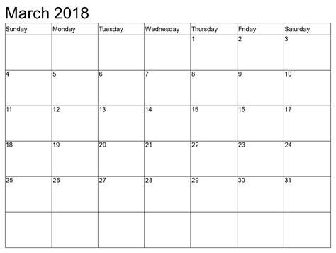 blank march 2016 calendar to print printable calendar 2018 free march 2018 printable