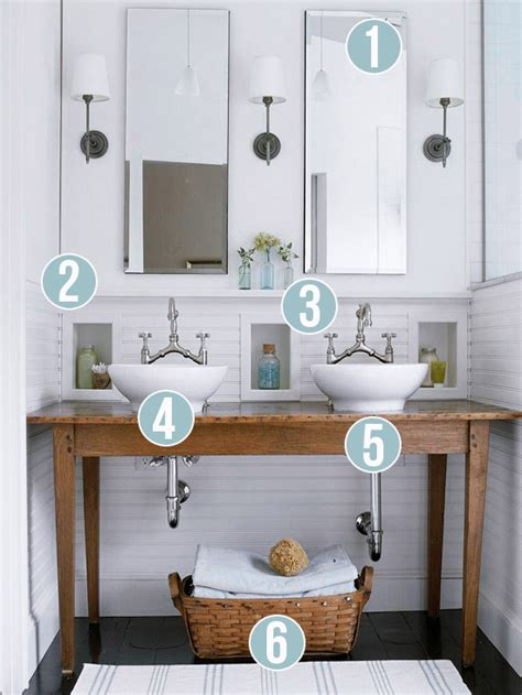 white rustic bathroom remodelaholic get this look contemporary rustic white