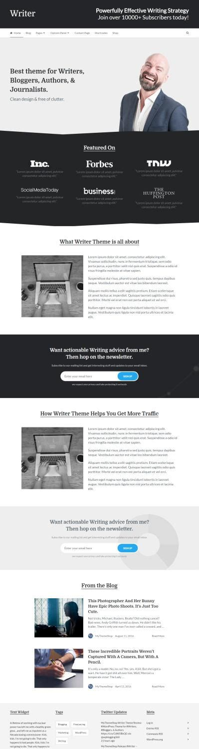 best blogger templates for writers writer review mythemeshop blog theme for writers good