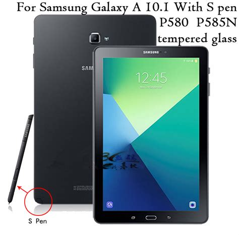 Samsung Tab A6 S Pen ヾ ノpremium tempered glass screen protector ᗔ