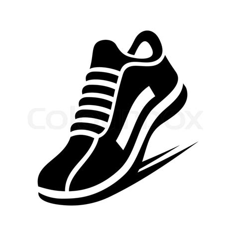 sport shoes vector running shoe icon on white background vector illustration