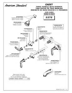 Three Handle Shower Faucet Repair American Standard Indoor Furnishings 3375 User S Guide
