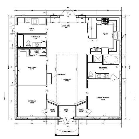 Simple Home Blueprints by Making Simple House Plan Interesting And Efficient