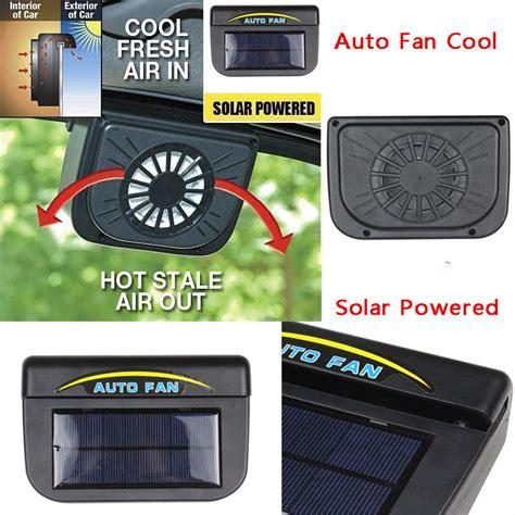 Auto Up Window Universal Sestem Protek triclicks universal abs solar sun powered fan car window windshield auto air vent cooling fan
