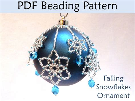beading tutorial pattern christmas ornaments snowflakes