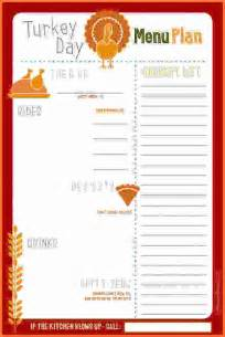 thanksgiving menu planner template thanksgiving menu template sales report template