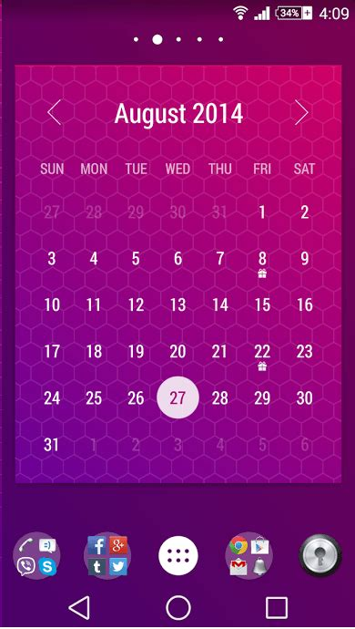 Daily Calendar Widget Android Get 70 Beautiful Calendar Widget Themes