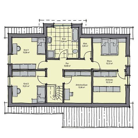 Ankleidezimmer Grundriss by Fertighaus Mit Einliegerwohnung Gussek Haus