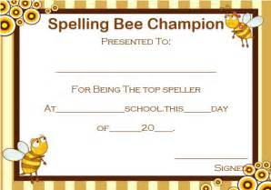 Spelling Bee Invitation Template by 21 Free Printable Spelling Bee Certificates Participation