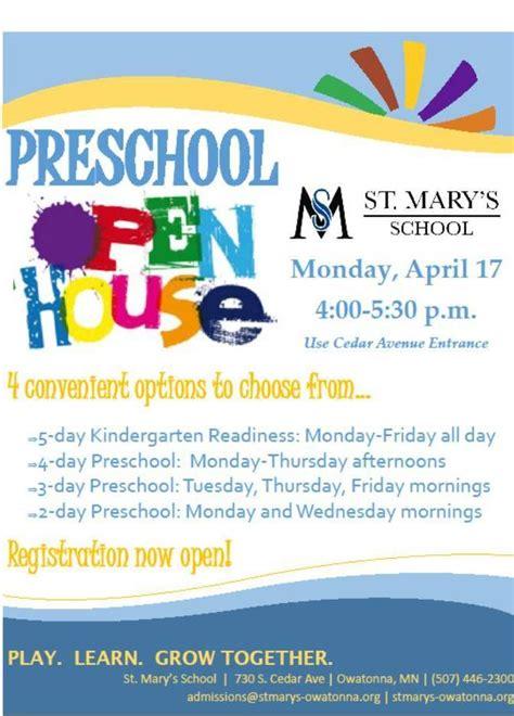 preschool open house st mary s school owatonna mn