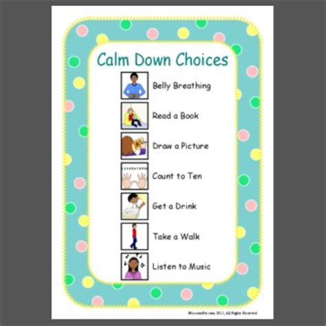 Calm Down Choices | pics for gt count to ten calm down