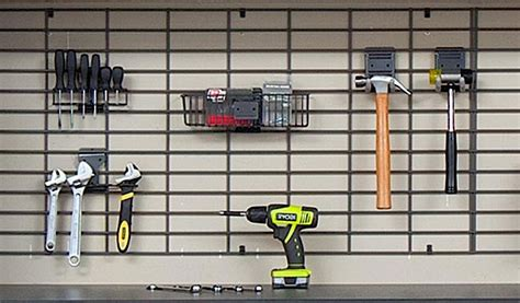 garage organizers shelving wall racks slatwall gridwall garage shelving accessories baskets racks tool organizers