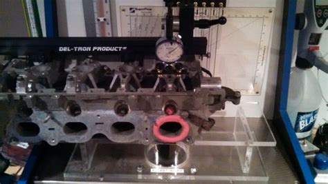 flow bench valve opening fixture valve opening fixture 4 valve per cylinder adapter