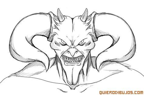 imagenes de angeles y demonios para dibujar a lapiz demonio con grandes cuernos