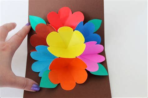 Origami Flower Pop Up Card - sending across the a pop up card