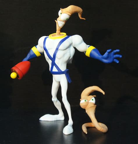 Figure Shinny Playmates Jim Bob Earthworm Jim earthworm jim collector figure review mezco toys