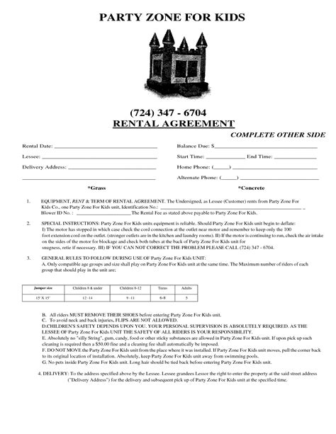 event rental agreement template generous event rental agreement template images resume