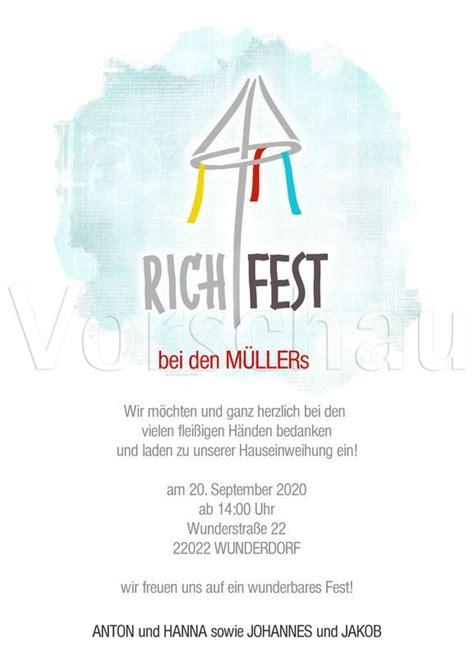 Richtfest Wen Einladen by 12 Besten Richtfest Bilder Auf Richtfest