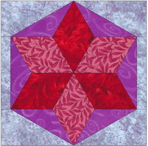 quilt hexagon template six hexagonal template block by humburgcreation craftsy