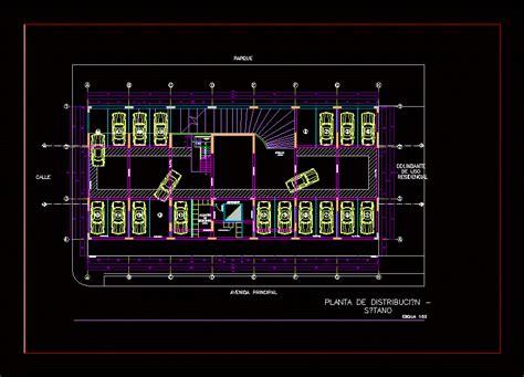 basement garage plans basement plans parking dwg plan for autocad designs cad