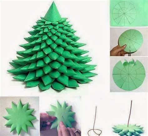 Paper Trees Craft - diy layered paper tree free template