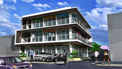 storey commercial  residential building  behance