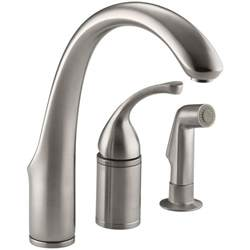 Delta Single Handle Kitchen Faucet With Spray kohler forte single handle standard kitchen faucet with