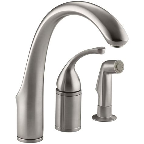 single handle kitchen faucet with sprayer kohler forte single handle standard kitchen faucet with