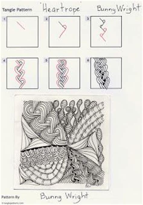 zentangle rope pattern heart rope zentangles pinterest