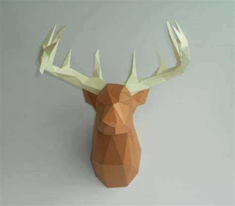 Yet Another Deer Head Papercraft Papercraft Deer Template