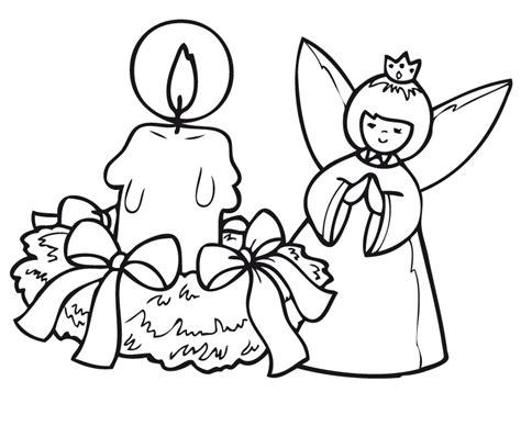imagenes de navidad para colorear de velas angel y vela dibujalia dibujos para colorear navidad