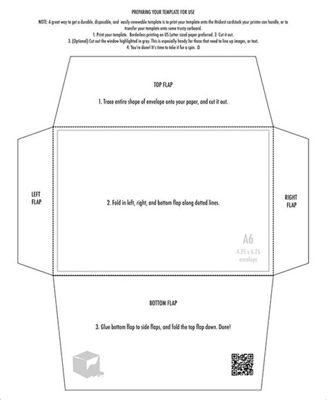 a6 envelope template template idea