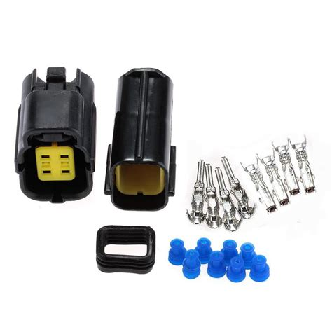 electrical wire snap connectors 4 pin way waterproof electrical wire cable connector set