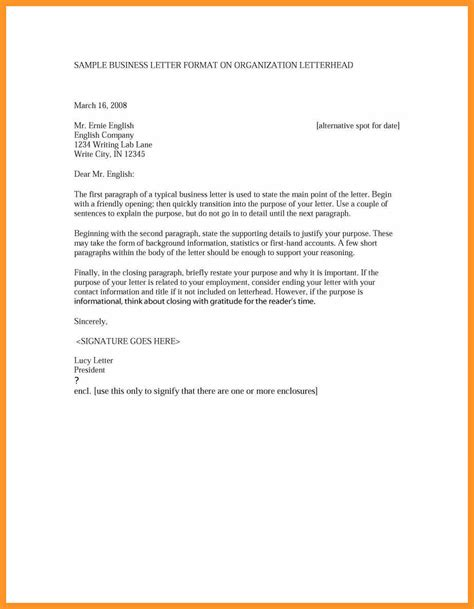 Business Letter Format Exle formal business letter exle formal business letter