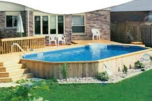 above ground pool deck image landscape designs