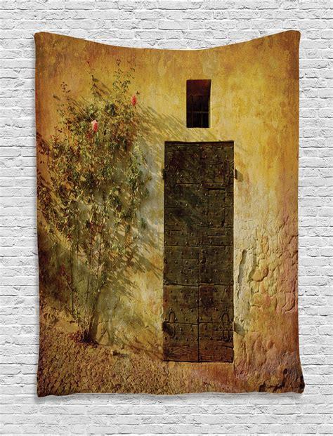 Door Tapestry by Antique Italian Door Of House Mediterranean Artprint