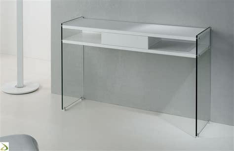 consolle in vetro per ingresso consolle moderna con cassetto arredo design