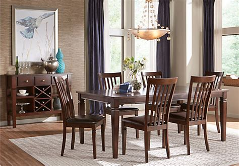 Riverdale Cherry 5 Pc Rectangle Dining Room Dining Room Sets Wood Riverdale Cherry 5 Pc Rectangle Dining Room Slat Back Chairs Formal