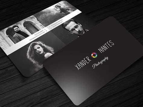 free card templates layeredfor photoshop photographer business card quadpix photoshop psd