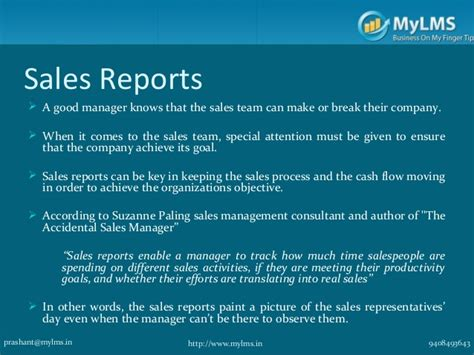 sle of a report to management sales reports every sales manager should be reviewing