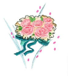 Wedding Bouquet Embroidery wedding bouquet embroidery designs machine embroidery