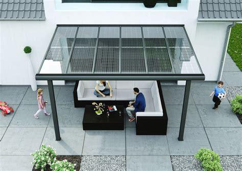 aluminium terrassendach alu terrassendach 0 mit solar als sonnenschutz