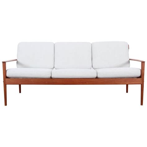 grete jalk sofa danish modern three seat sofa in teak model pj56 3 by