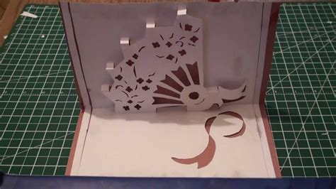 fan n card template kirigami pop up fan free template paper craft