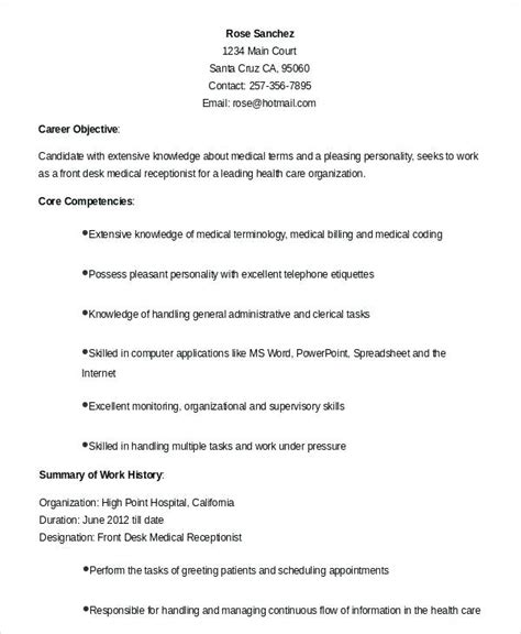 objective exles for resume receptionist receptionist resume objective resume ideas