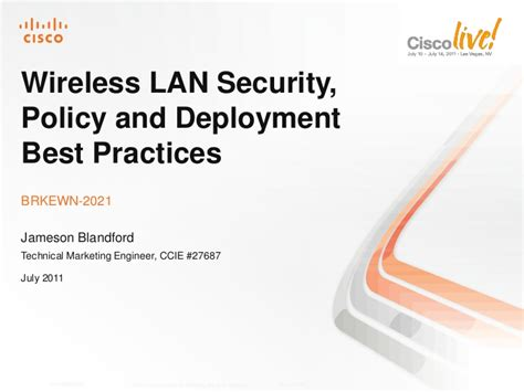wireless lan security policy and deployment best practices